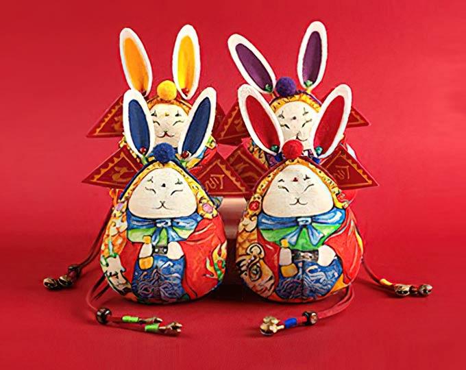王的手创兔儿爷香囊手工刺绣中国风礼物老北京
