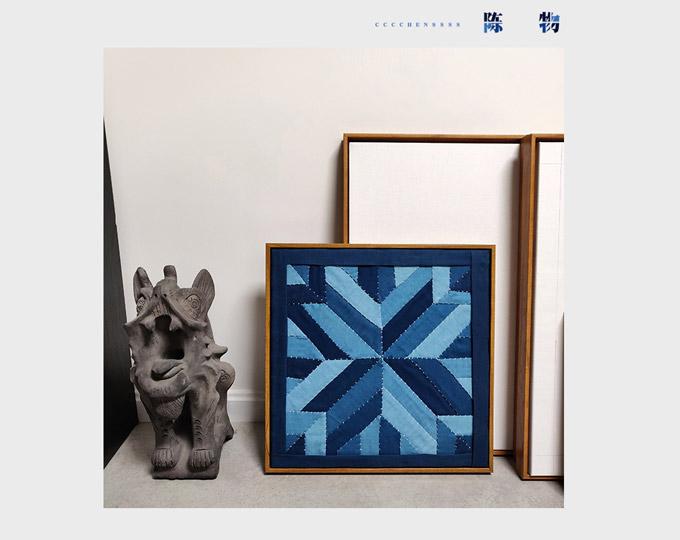 indigo-blue-patch-fabric-retro