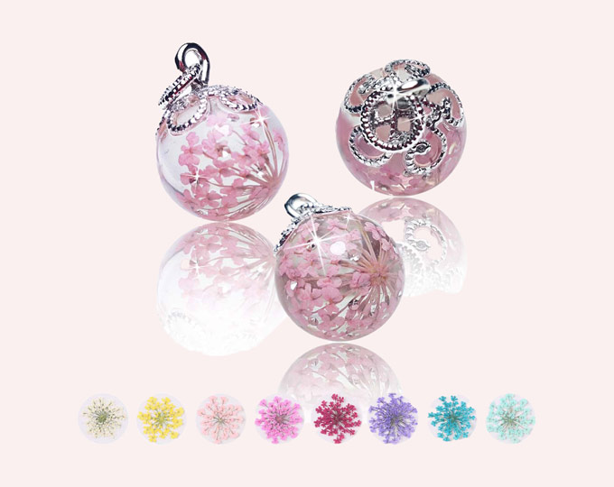 real-flower-provence-ball-necklace