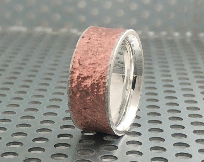 silvercopper-ring