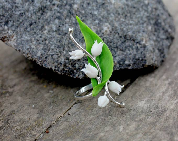 adjustable-ring-lily-of-the-valley