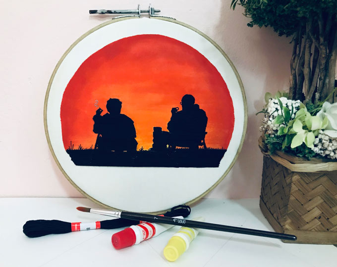 silhouette-embroidery-sunset