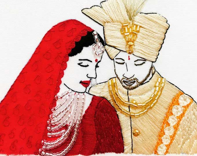 hand-embroidery-portraits-wedding