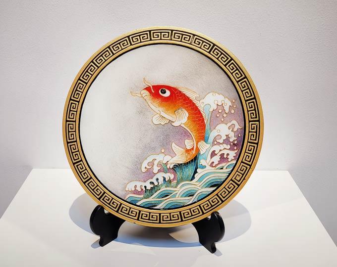 goldfish-cloisonne-enamel-painting