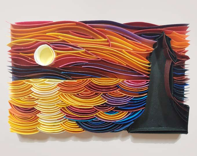 mini-sunset-quilled-picture