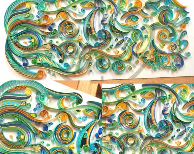 entropy-quilling