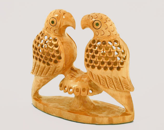 wooden-parrot-pair-carved-wooden