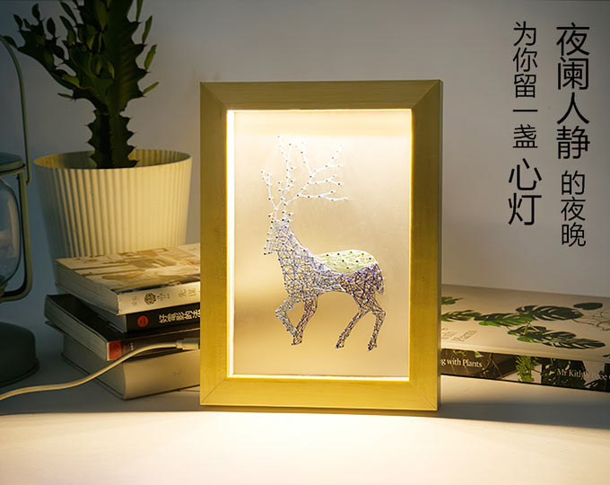 handcraft-stringart-framed-deer
