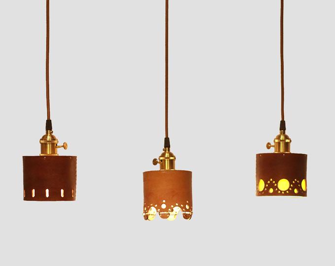cowhide-bedside-lamp-brass-lamp B