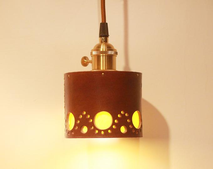 cowhide-bedside-lamp-brass-lamp D