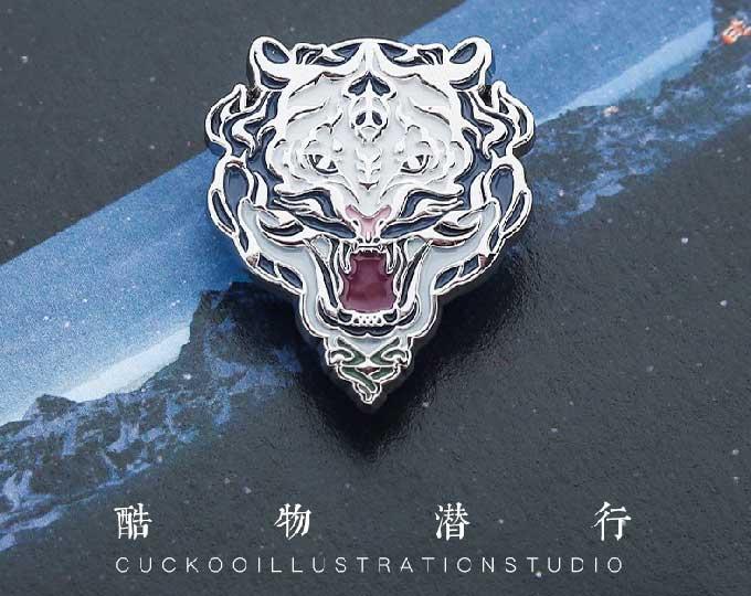 white-tiger-enamel-metal-brooch