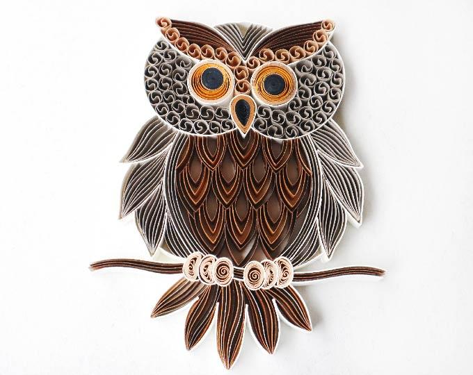 handmade-paper-art-quilling-owl