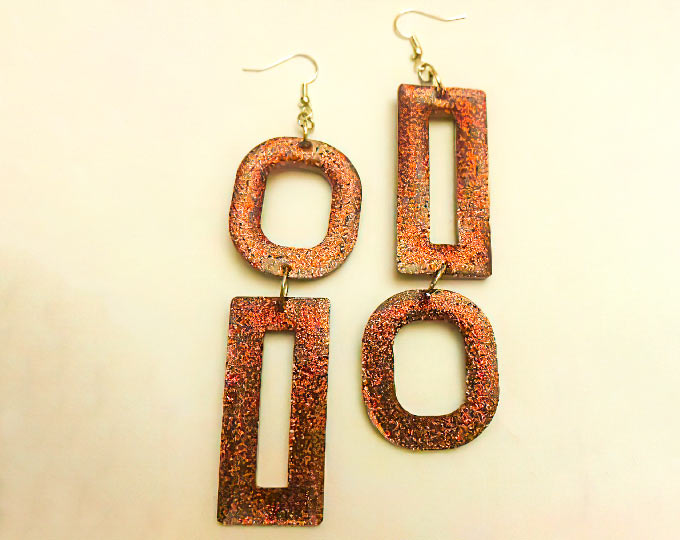 contemporary-dark-red-earrings-by
