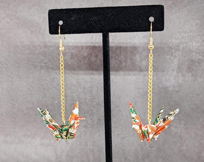 white-floral-crane-earrings