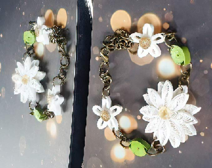 handmade-quilling-daisy-bracelet