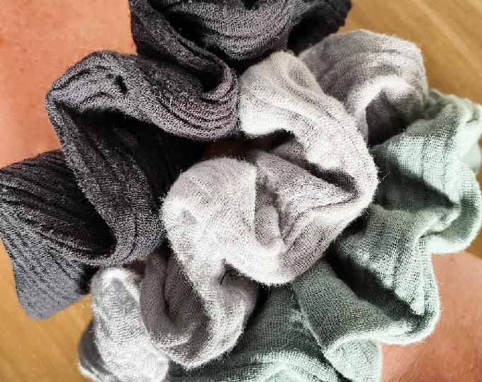 cheesecloth-scrunchies