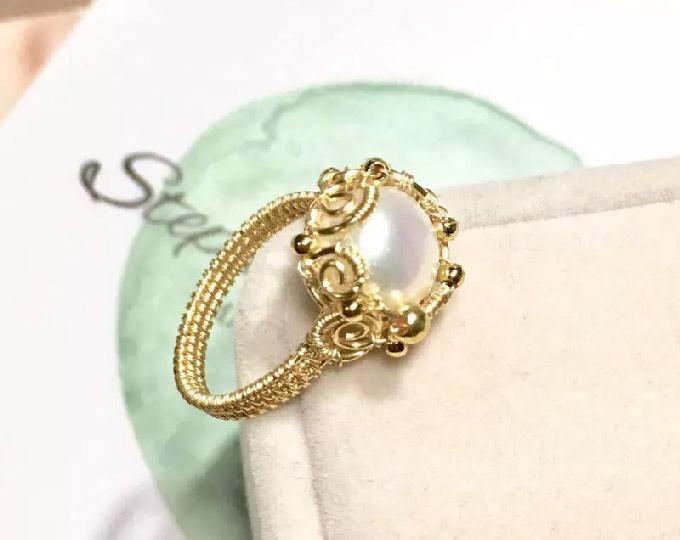 pearl-ring-14k-goldfill-ring