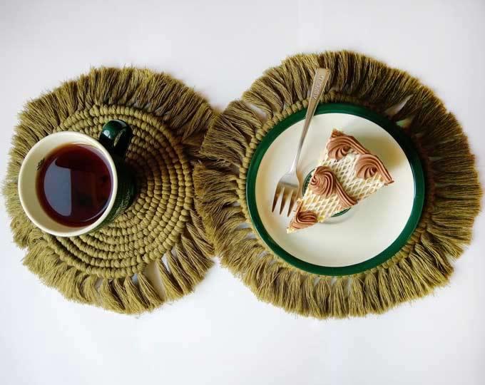 set-of-2-table-coasters-calm-oliva D