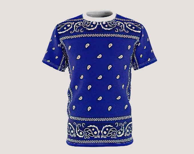 unisex-aop-blue-bandana-tshirt