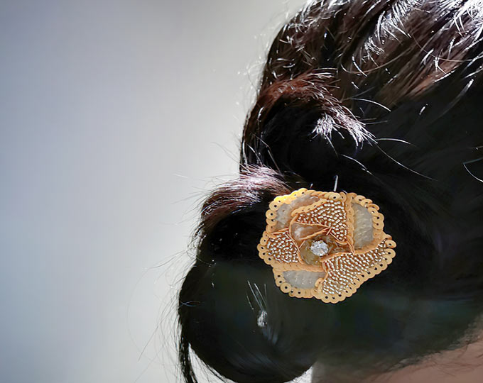 French-embroidered-flower-hair-pin