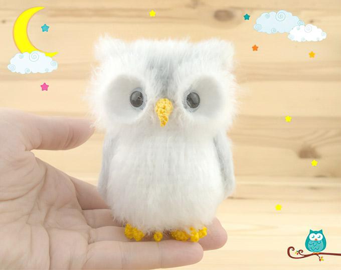 White-owl-plush-Snowy-owl-figurine