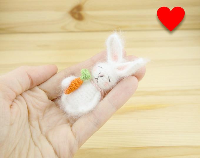 Miniature-bunny-Tiny-bunny-toy-Wo