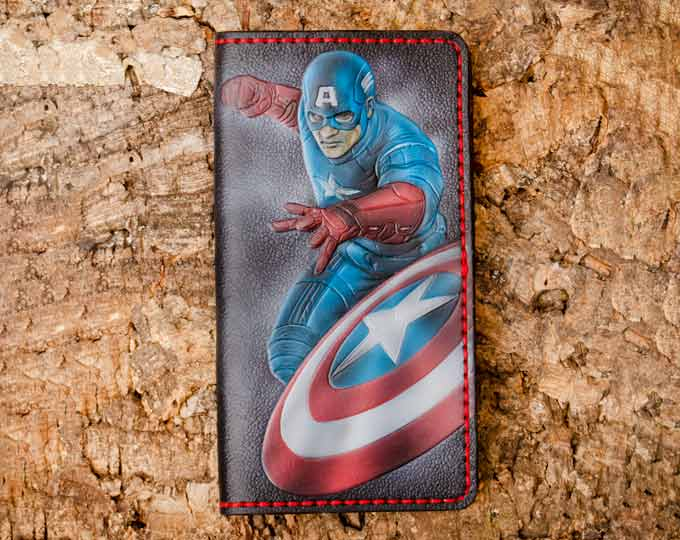 Leather-wallet-with-Captain-America