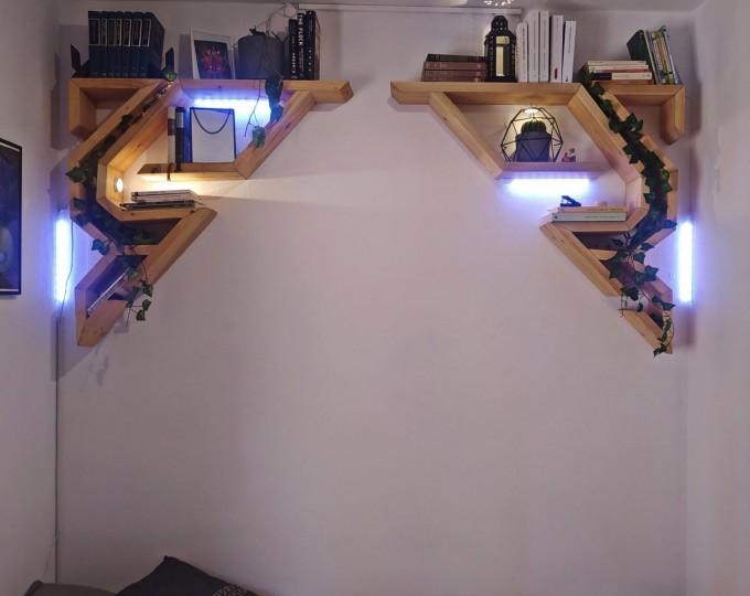 Geometric-corner-shelves