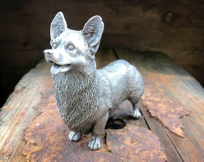 Corgi-Pewter-Figurine
