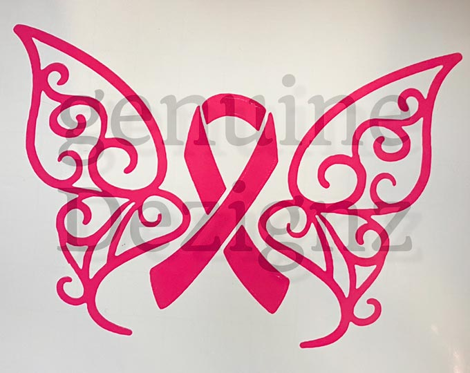 car-decal-breast-cancer-butterfly